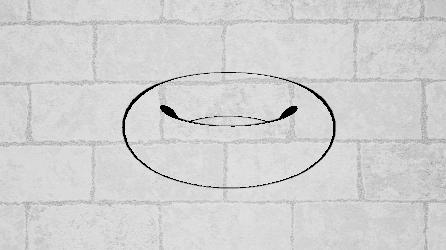 トーラスの表面に背景を描画