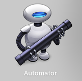 Automatorアプリのアイコン