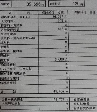 夫 検査入院でかかった費用