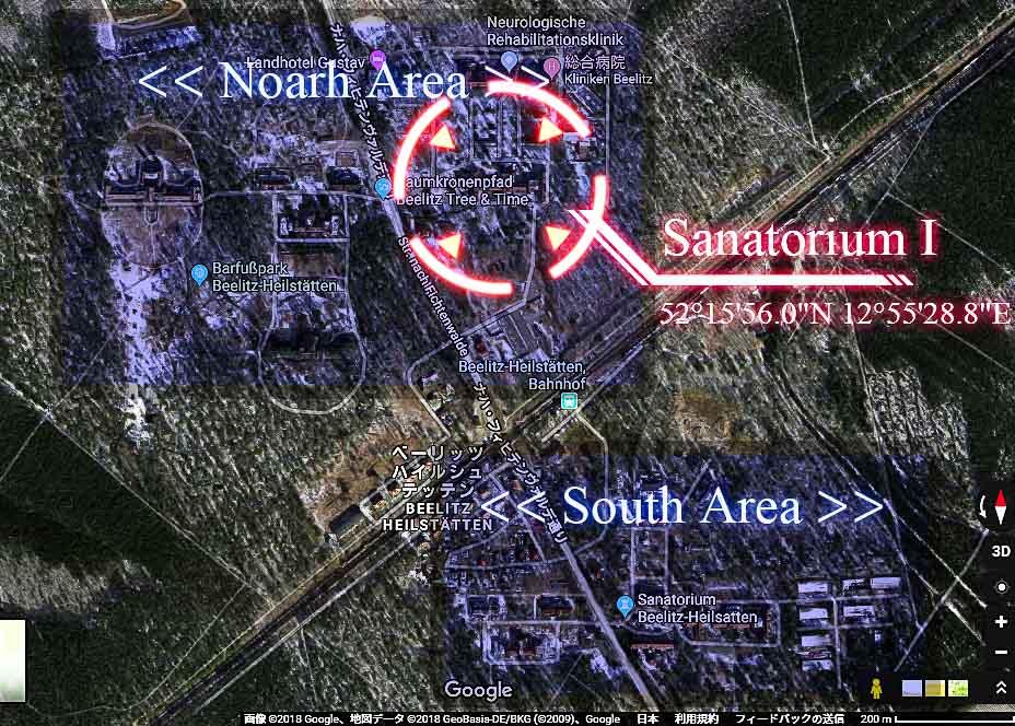ベーリッツ・ハイルシュテッテン・サナトリウム(Beelitz-Heilstätten Sanatorium)_探索用地図01