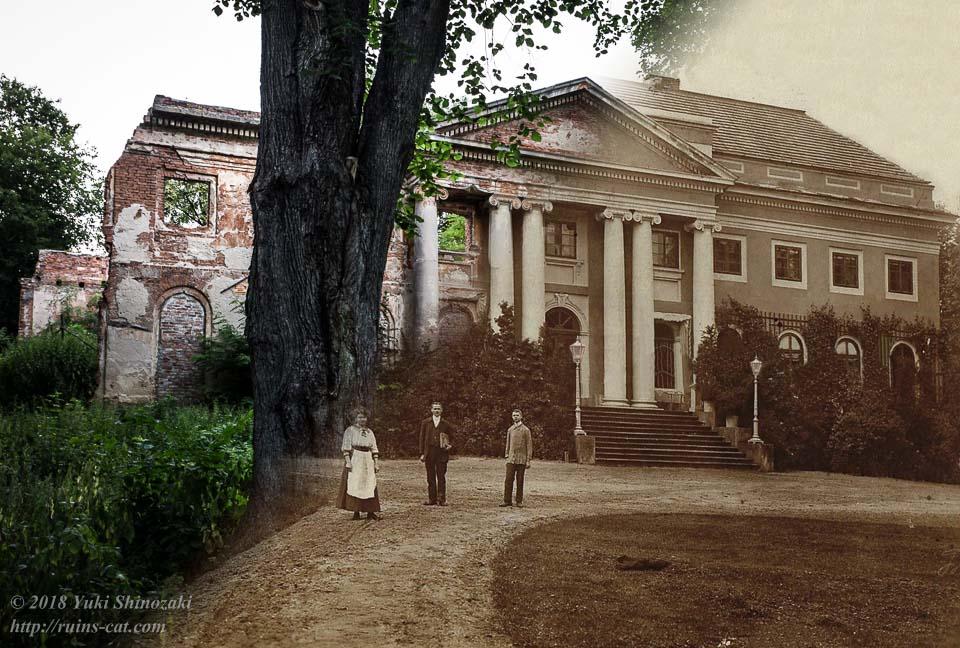 ポントヌフ宮殿(Pałac w Pątnowie) 新旧写真比較
