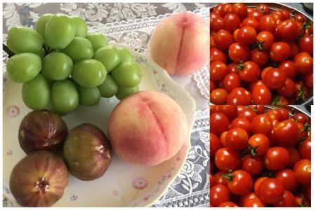 サンシャインマスカット&ミニトマト