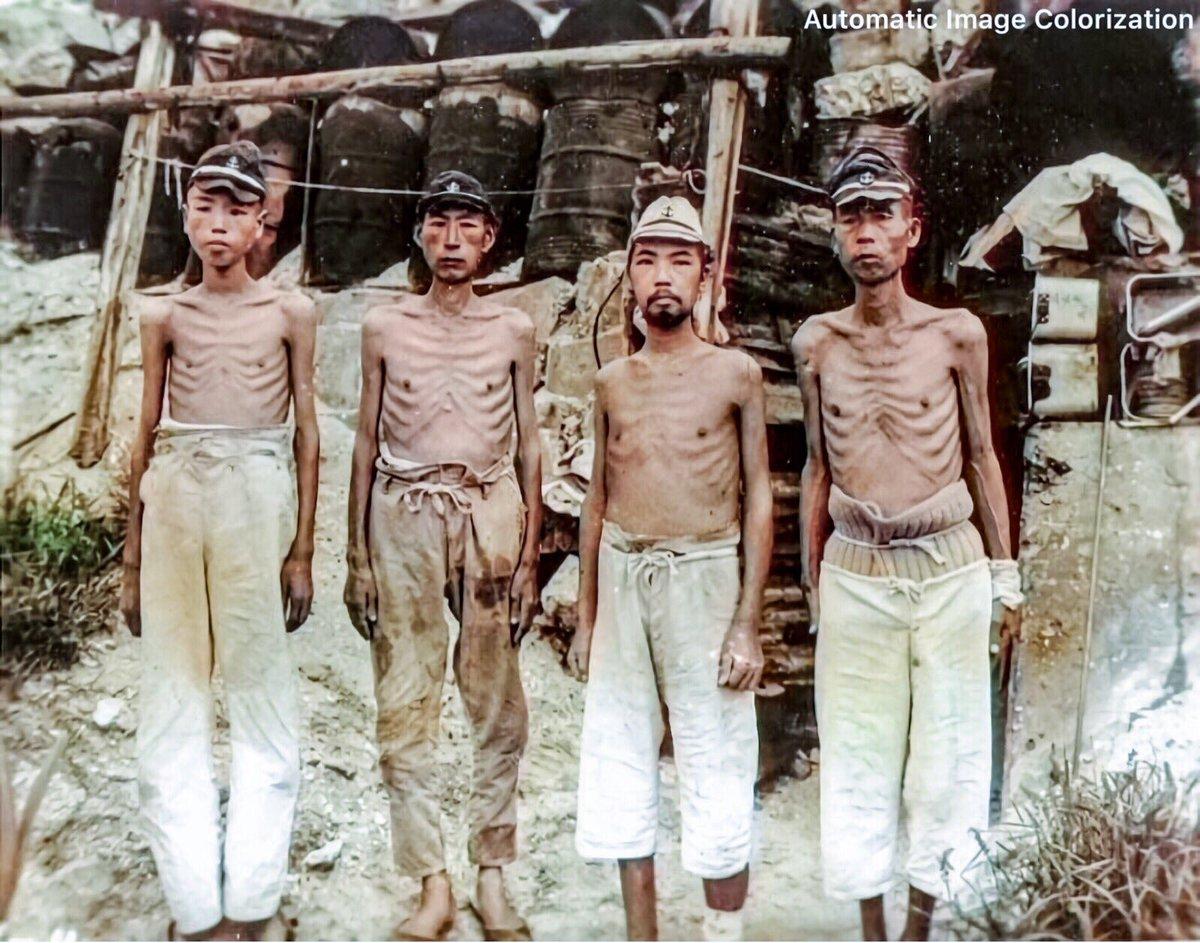 終戦直後にマーシャル諸島で撮影された日本