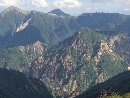 常念岳、大天井岳と硫黄尾根