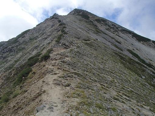 鷲羽岳への登り