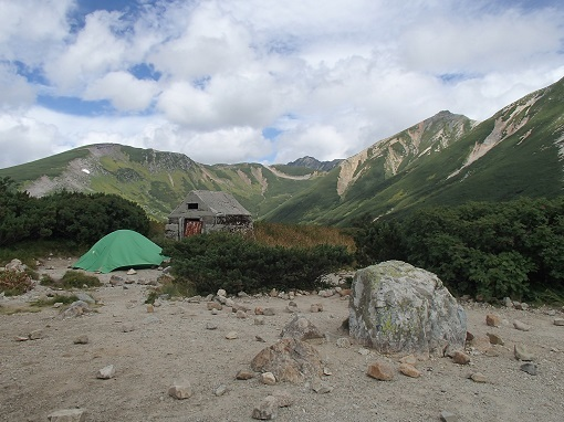 三俣のテント場
