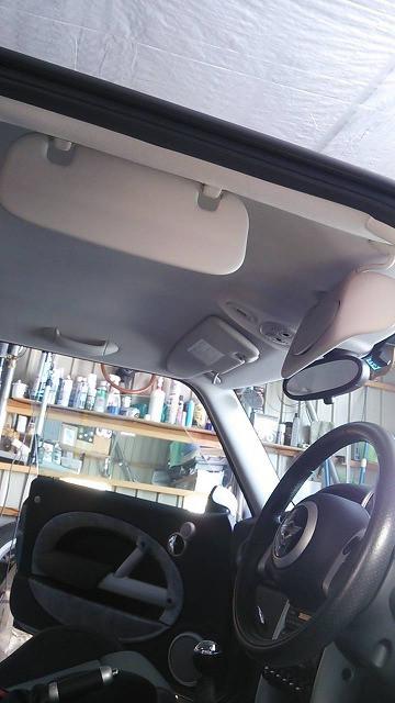 BMWミニクーパーSのレザーシート汚れ