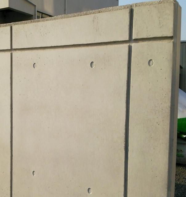 コンクリート塀のコールドジョイント美装