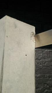 コンクリート塀の欠け補修