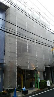 コンクリート外壁補修跡の美装仕上げ