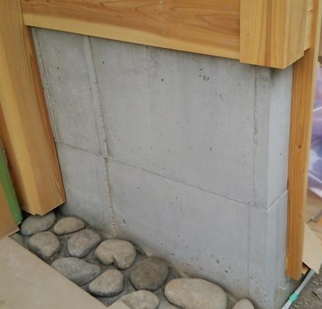 基礎立ち上げコンクリート壁の美装