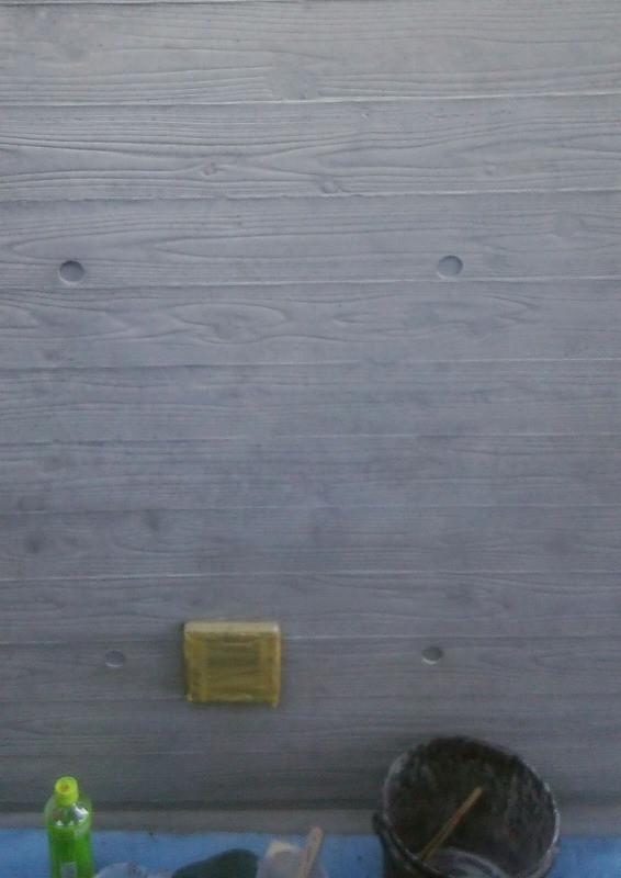 杉板本実仕上げのクラック補修美装