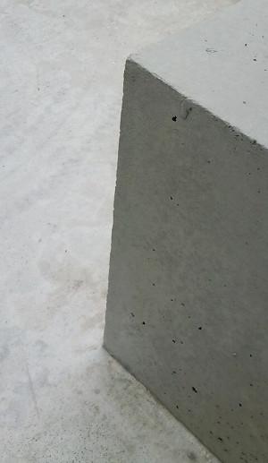 コンクリ花壇の角欠け補修