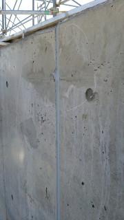 コンクリート打ち放し補修跡の美装