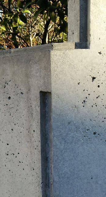 外構コンクリート塀の傷補修美装