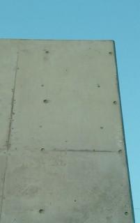 コンクリート打ち放し補修跡美装