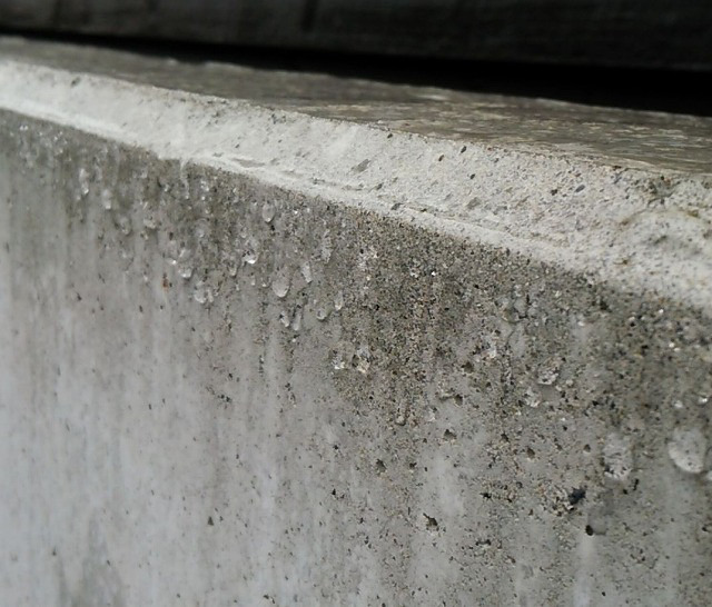 RC塀高圧洗浄して撥水コーティング