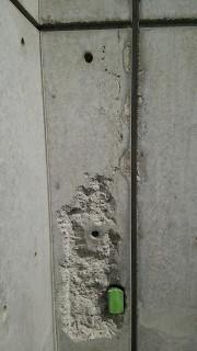 打ち放しコンクリートの壁補修美装