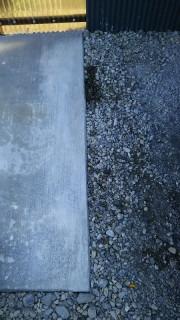 コンクリート土間の乾燥前踏み跡補修美装