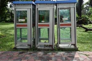 Phone Booth, Lumpini Park, Bangkok Thailand