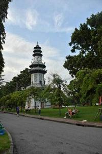 Clock Tower, Lumpini Park, Bangkok Thailand