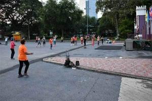 Exercise, Lumpini Park, Bangkok Thailand