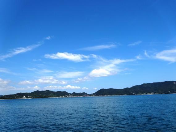 津田の海と空