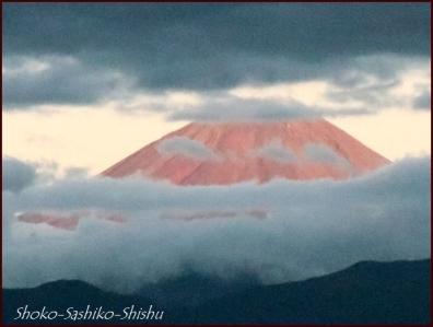 20180908 赤富士 6  山梨アトリエ