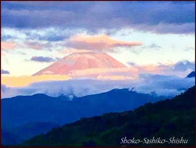 20180908 赤富士 7  山梨アトリエ