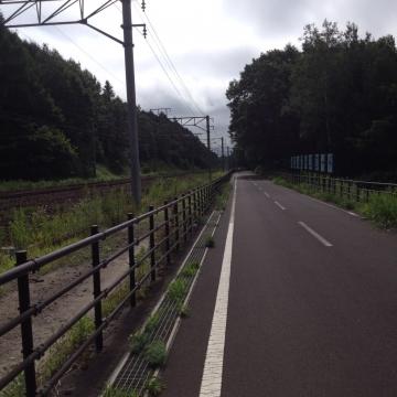 自転車道だけど道道