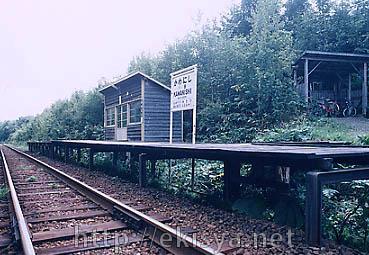 川西駅ホーム