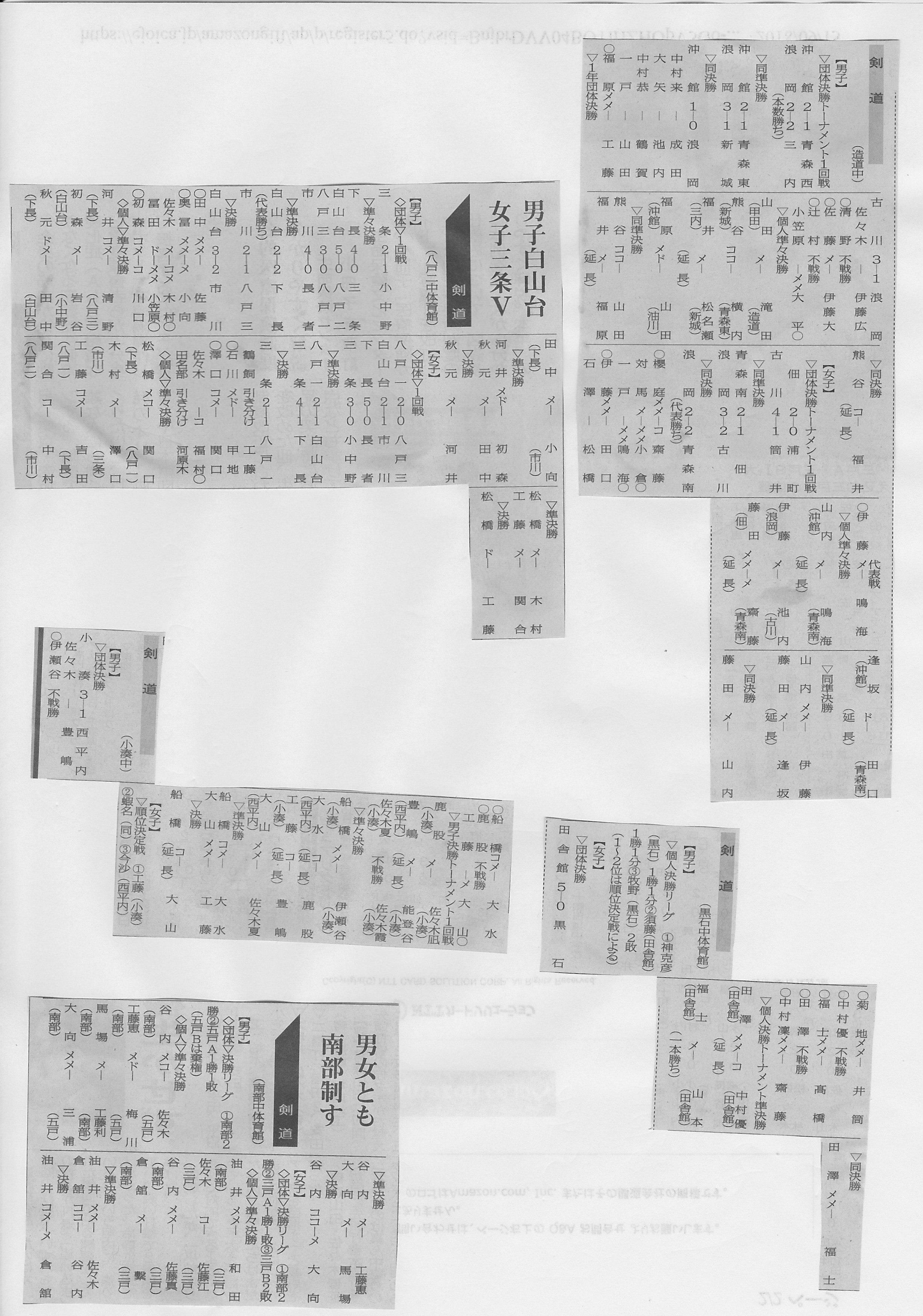 2018青森県各地中体連新人戦
