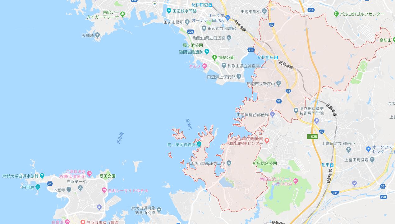 和歌山県田辺市新庄町