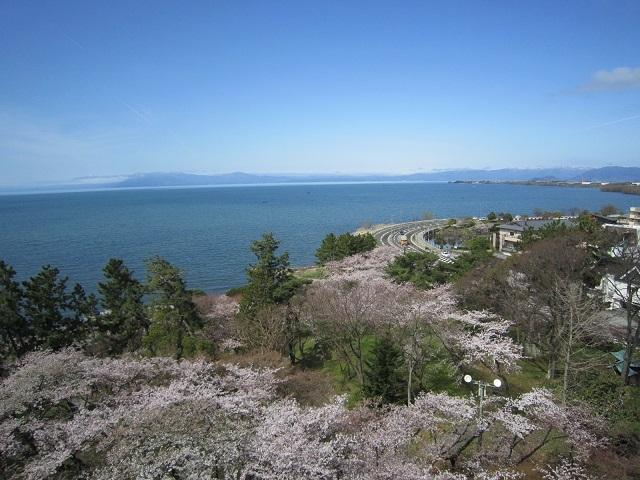 長浜城からの琵琶湖の眺め