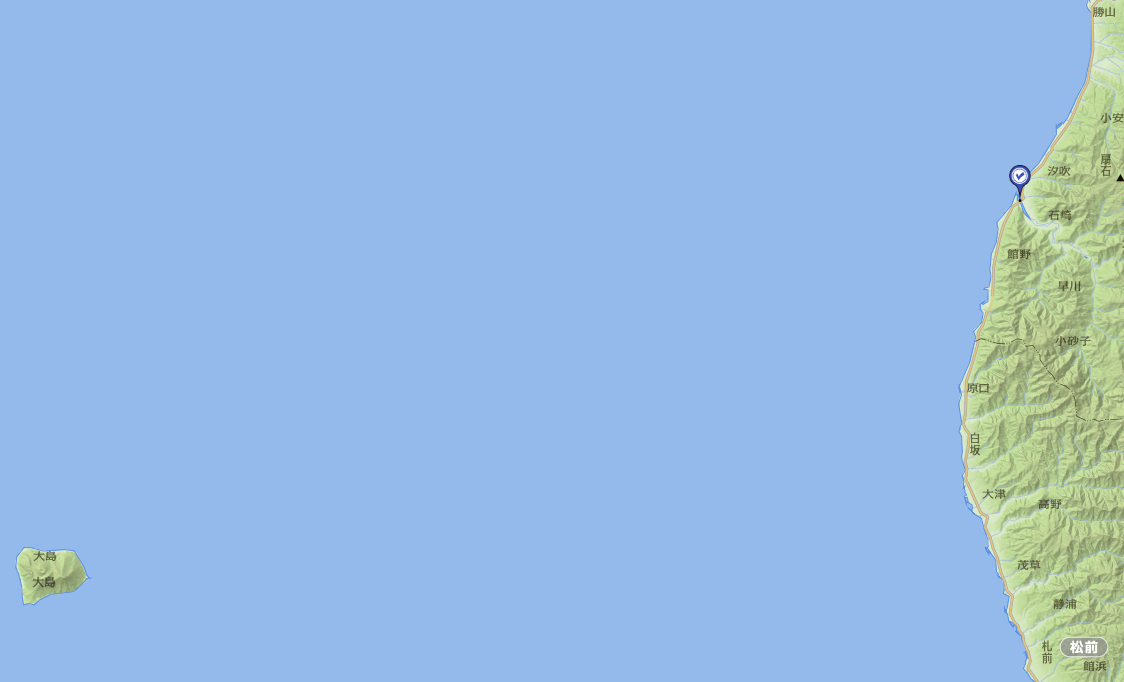 渡島大島と石崎地区
