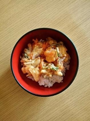海老かき揚げ丼1