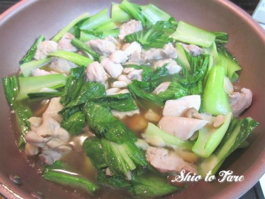 IMG_7968_20180916_02_なんちゃって鶏肉と青梗菜の塩あんかけ炒め