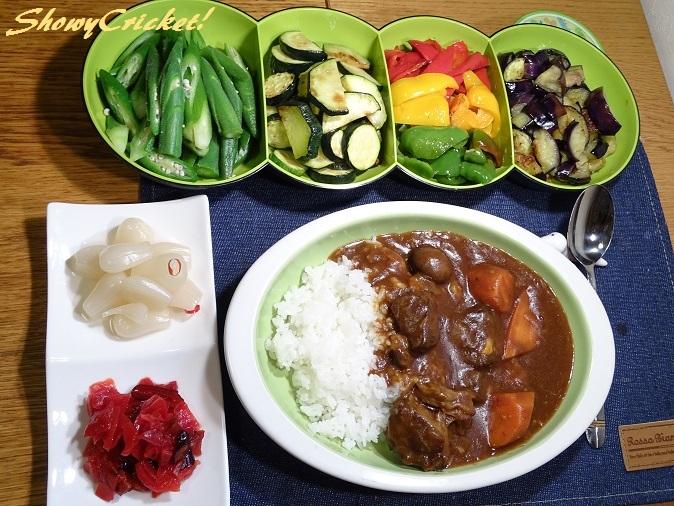 2018-08-12夏野菜カレー (1)