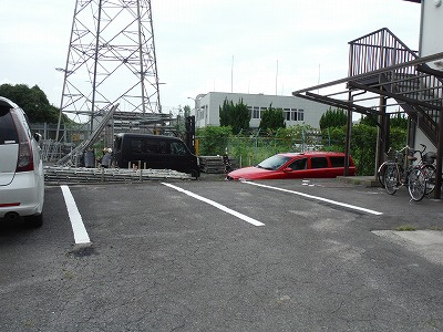 駐車場区画ライン施工完成