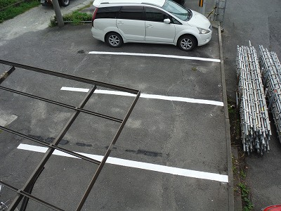 駐車場区画ライン施工完成2