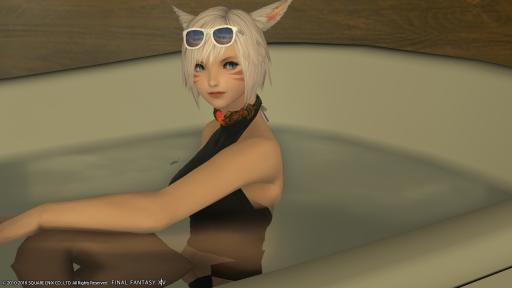 お風呂に入って