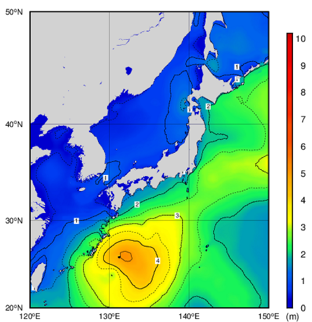 南海上は波が高い