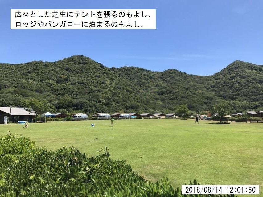 キャンプ場も広い