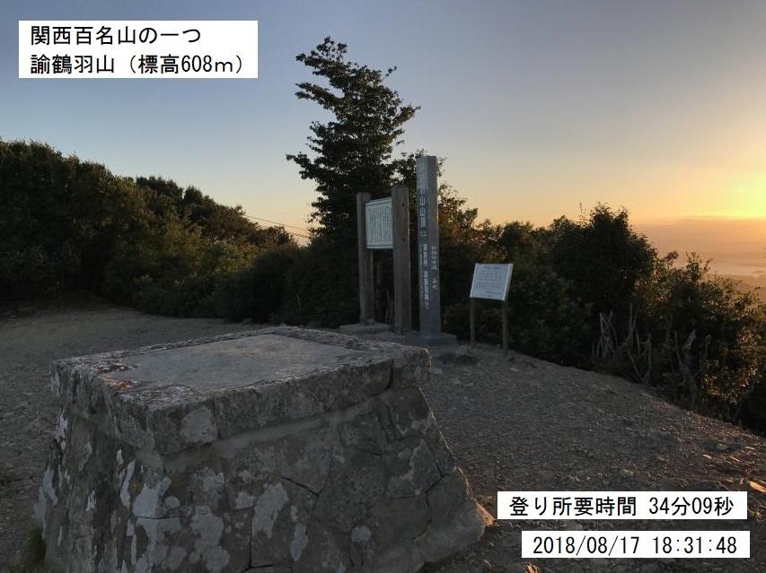 2018年8月17日の諭鶴羽山