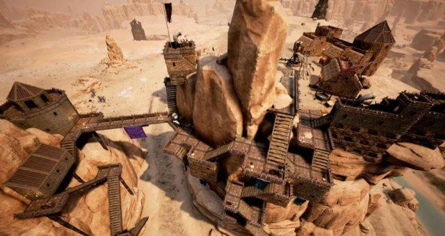 【Conan Exiles】拠点・街の屋根・天井部屋建設法!屋根を利用してストレージ部屋や丸い屋根も!(コナンアウトキャスト)