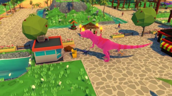 かわいい恐竜テーマパーク運営シム『Parkasaurus』レビュー!育成や運営など本格的なシュミレーション 日本語化は??