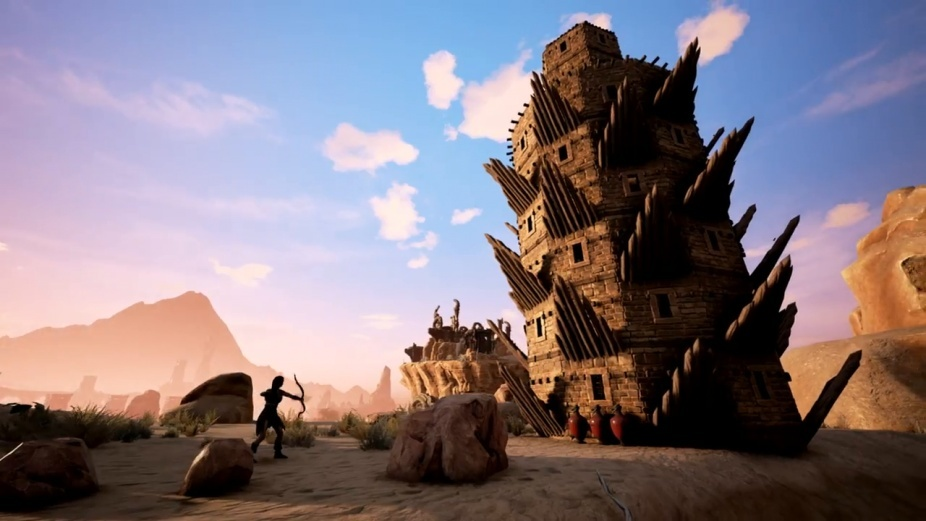 【Conan Exiles】拠点・街円型の建物や螺旋階段の建設法!闘技場やお城づくりに必須!!(コナンアウトキャスト)
