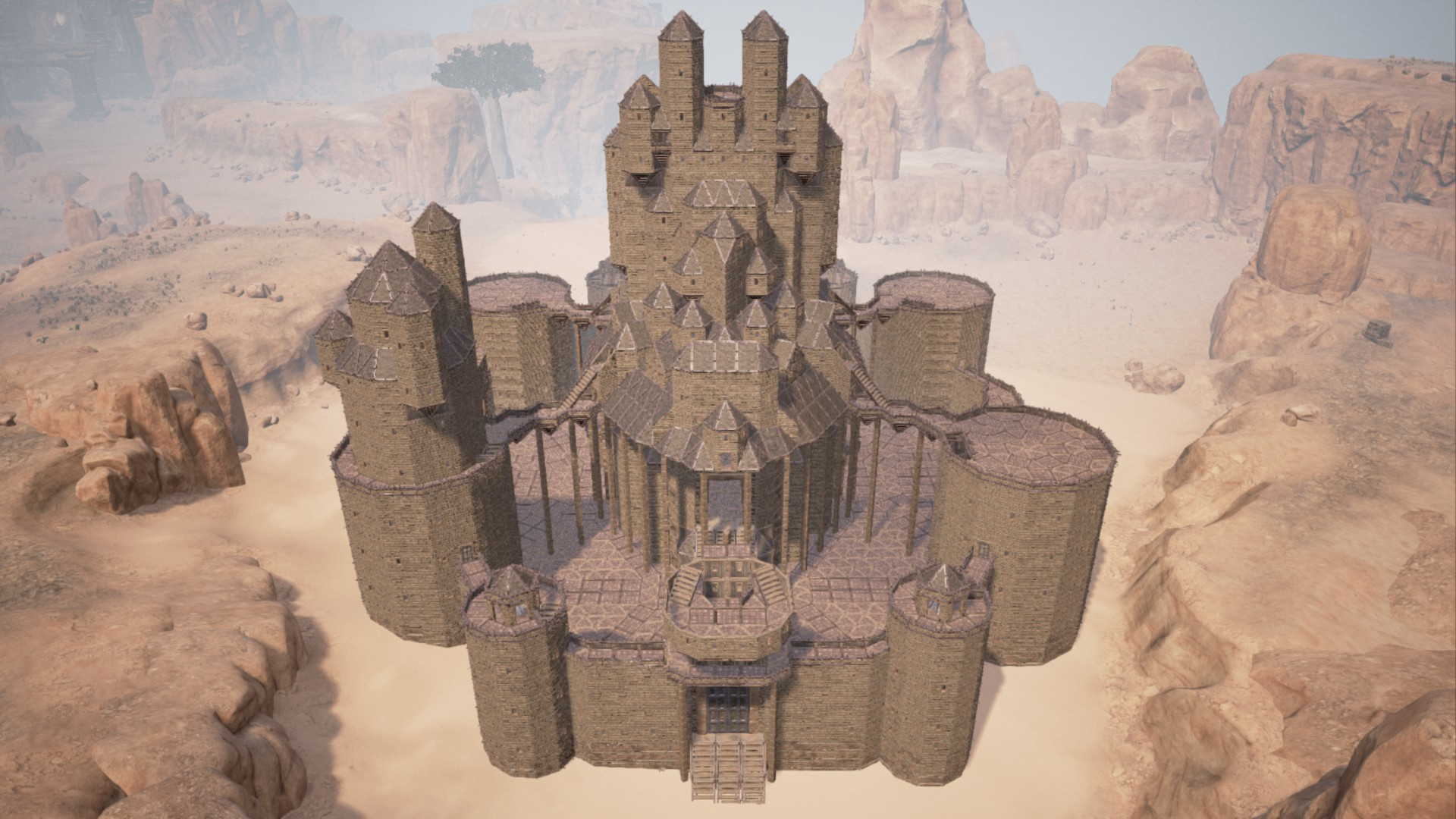 【Conan Exiles】攻めにくい防衛拠点・大型拠点の建築簡単ガイド 基盤や屋根・壁など(コナンアウトキャスト)