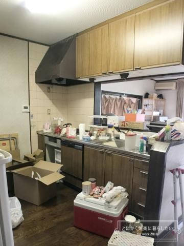 引っ越し後のキッチン整理 (1)