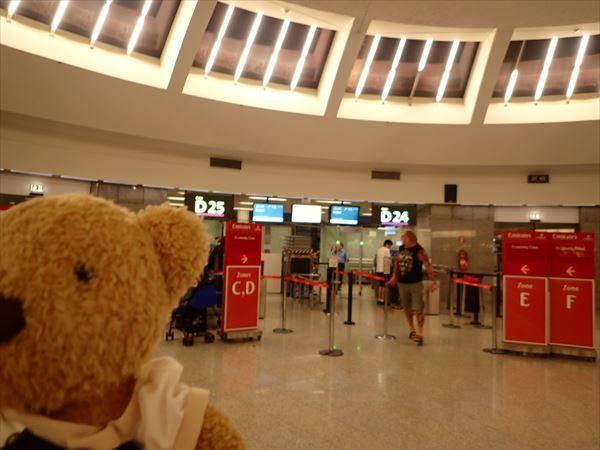 ウィーン空港出発